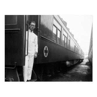 Coche de ferrocarril sanitario de la Cruz Roja, Tarjetas Postales