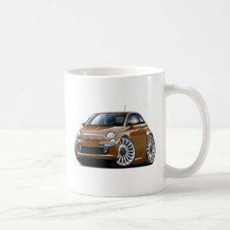 Coche de Fiat 500 Brown Taza De Café