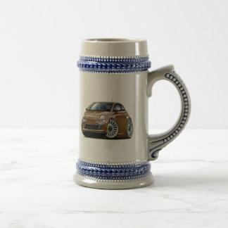 Coche de Fiat 500 Brown Taza