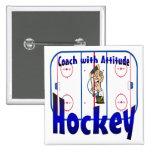 Coche de hockey con actitud pins