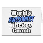 Coche de hockey de Awesomest del mundo Tarjeton