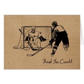 ¡Coche de hockey de las gracias! Tarjeta