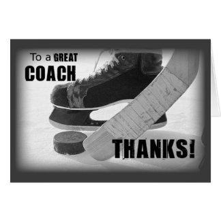 Coche de hockey de las gracias tarjeta de felicitación