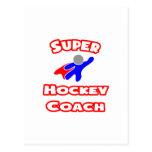 Coche de hockey estupendo tarjetas postales