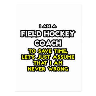 Coche de hockey hierba. Asuma que nunca soy Postal
