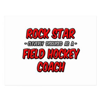 Coche de hockey hierba de la estrella del rock… tarjeta postal