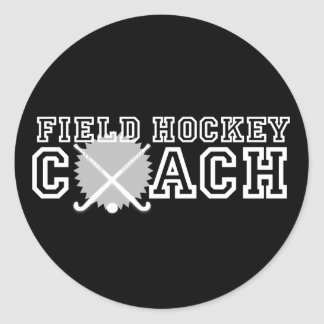 Coche de hockey hierba pegatinas redondas