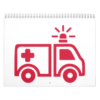 Coche de la ambulancia calendario