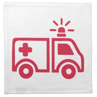 Coche de la ambulancia servilletas de papel