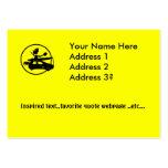 Coche de la bici del kajak - regalos del enfoque tarjetas de visita