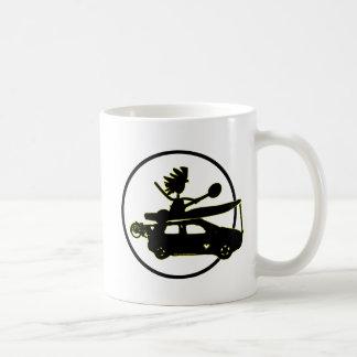Coche de la bici del kajak - regalos del enfoque taza de café