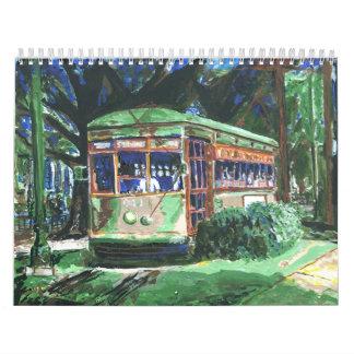 Coche de la calle de New Orleans Calendarios