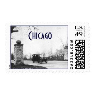 Coche de la era de prohibición de los años 20 del sellos