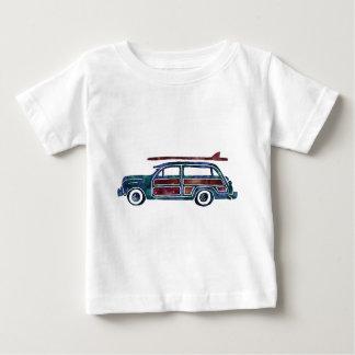 Coche de la furgoneta de Woody del vintage con las Playera Para Bebé