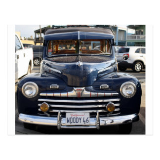 Coche de la obra clásica de California Woody Tarjeta Postal