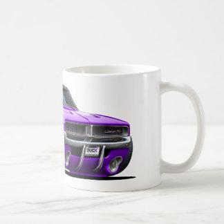 Coche de la púrpura del cargador de Dodge Tazas De Café