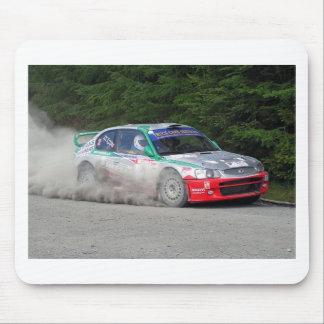 Coche de la reunión del acento WRC de Hyundai Mousepads