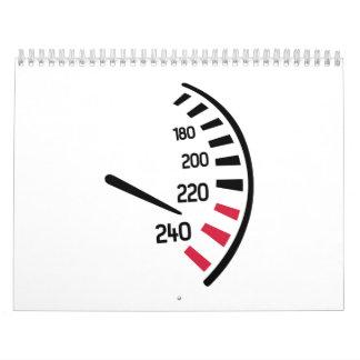 Coche de la velocidad calendarios de pared