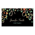 Coche de la vida - remolino elegante floral plantillas de tarjetas personales