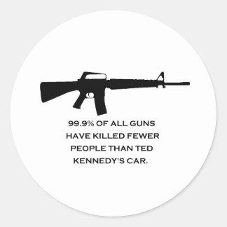 coche de los kennedys del arma etiquetas redondas