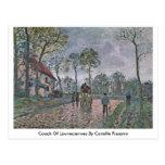 Coche de Louveciennes de Camille Pissarro Tarjeta Postal