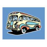 coche de motor retro del autobús