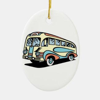 coche de motor retro del autobús adornos