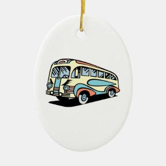 coche de motor retro del autobús ornamento para arbol de navidad