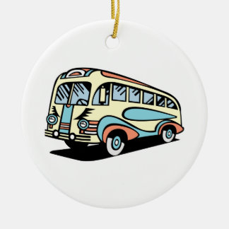 coche de motor retro del autobús adorno