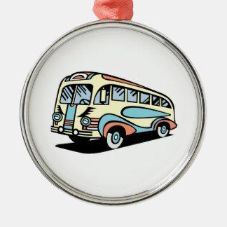 coche de motor retro del autobús adornos de navidad