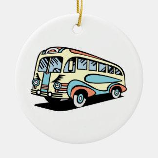 coche de motor retro del autobús ornatos