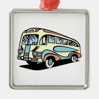 coche de motor retro del autobús ornamento de navidad