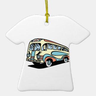 coche de motor retro del autobús ornaments para arbol de navidad