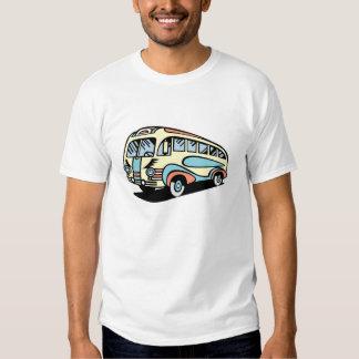 coche de motor retro del autobús playera