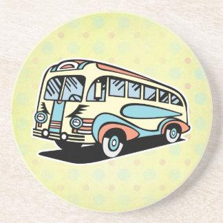 coche de motor retro del autobús posavasos manualidades