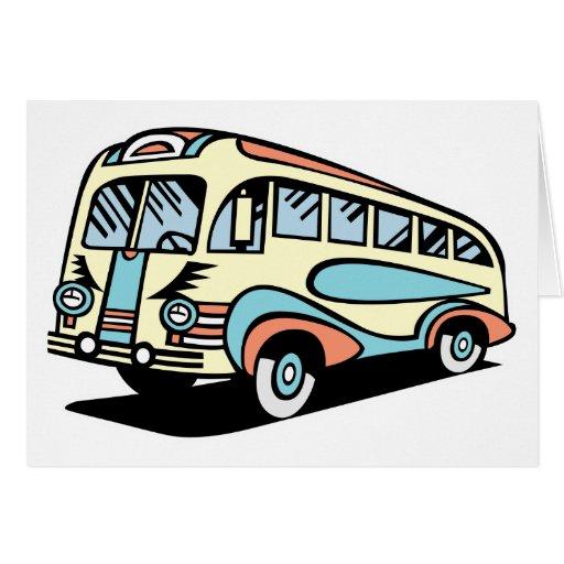 coche de motor retro del autobús tarjeton