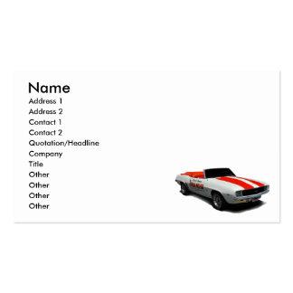 coche de paso 1969 plantilla de tarjeta personal