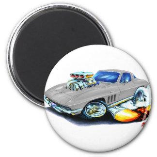 Coche de plata 1965 del Corvette Imán Redondo 5 Cm