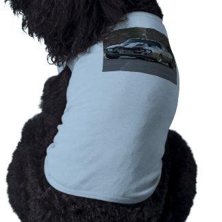 Coche de plata del músculo playera sin mangas para perro