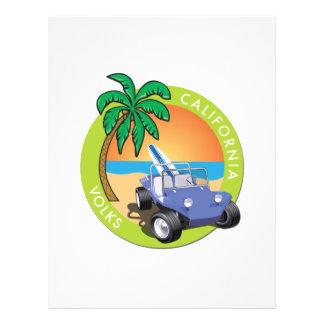 """Coche de playa de California Volks con las palmas Folleto 8.5"""" X 11"""""""