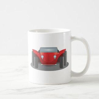 Coche de playa rojo y negro del taza clásica