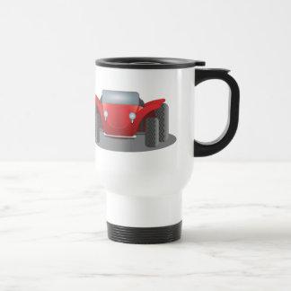 Coche de playa rojo y negro del taza de viaje
