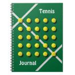 Coche de tenis, personalizado libros de apuntes con espiral