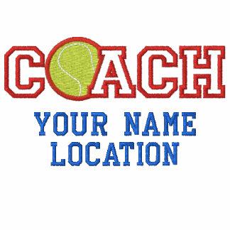Coche de tenis personalizado su nombre su juego chaqueta bordada de entrenamiento