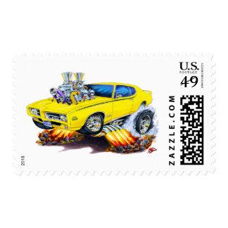 Coche del amarillo del juez de 1969 GTO Sellos