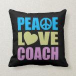 Coche del amor de la paz almohada