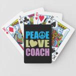 Coche del amor de la paz cartas de juego