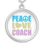 Coche del amor de la paz collar personalizado