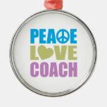 Coche del amor de la paz ornamentos para reyes magos