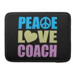Coche del amor de la paz funda para macbook pro